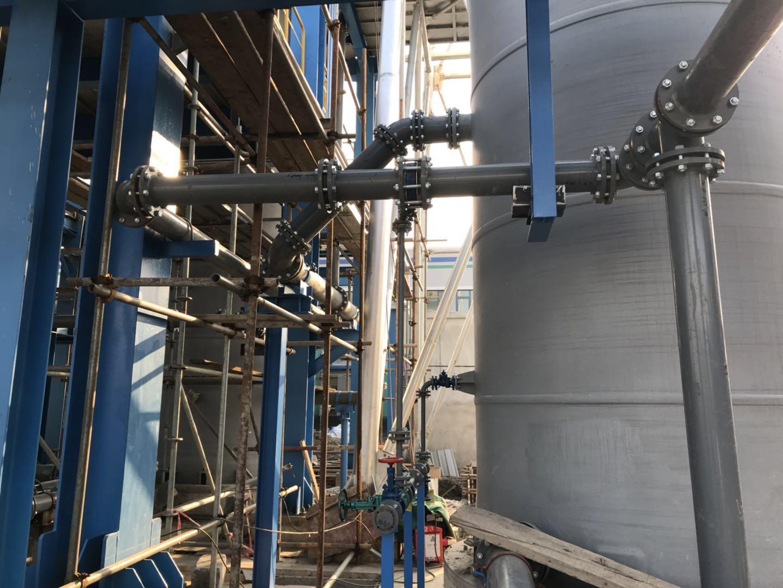 高HF企业使用钢衬四氟管道现场